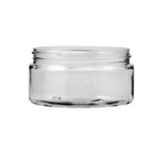 10 Clear PET Jars, 8oz size