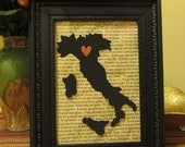 I Love Italy 5x7 Framed Art