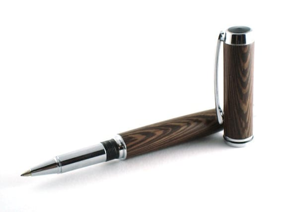 Wenge Wood Pen - Jr Gentlemens Style Pen with Chrome Finish
