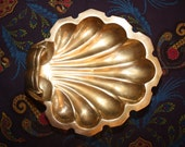 Vintage Brass Shell Bowl