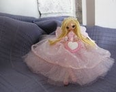 Fairy Doll Pink and White Blonde Valentine's Day