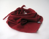 Baby scarf, children clothing, wool, bib, drool catcher, virgin wool, ruby red, fall accessories, ready to ship