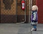 Full zip sweater, Children Spring Clothing, zip up jumper, heather grey, bellflower purple, spring jacket
