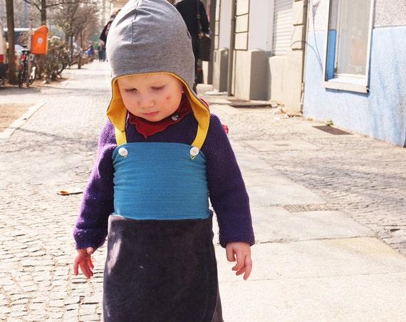 Girls Dress, Children Clothing, Pinafore, Flap Skirt, fall dress, waldorf inspired, versatile toddler clothing, size 18m, ready to ship