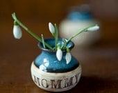 Personalized Tiny Mom Flower Vase - Bud Vase