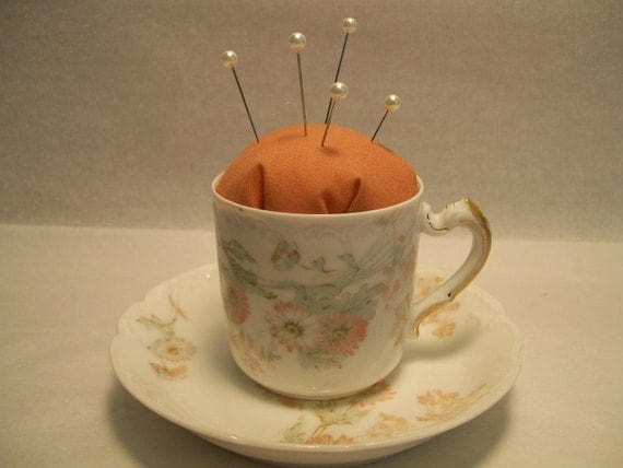 Limoges Demitasse Teacup Pincushion