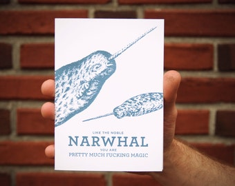 "5"" x 7"" Narwhal Card"