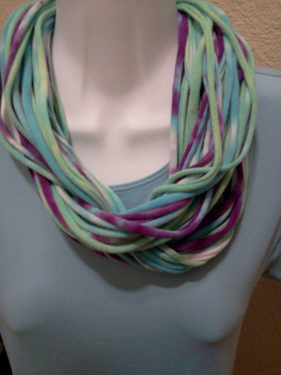 Recycled Tie Dyed T Shirt Scarf