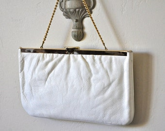 Vintage White Purse  - 1950's Harry Levine