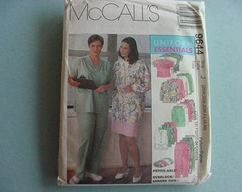 UNCUT 1998 McCall's Pattern 9644  Misses Scrubs, Cardigans, Top, Pull-on Pants, Skirt Plus Size  26W - 30W