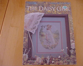 Vintage 1994, The Daisy Girl, Counted Cross Stitch Pattern, Leisure Arts 2616, Flowers, Little Girl