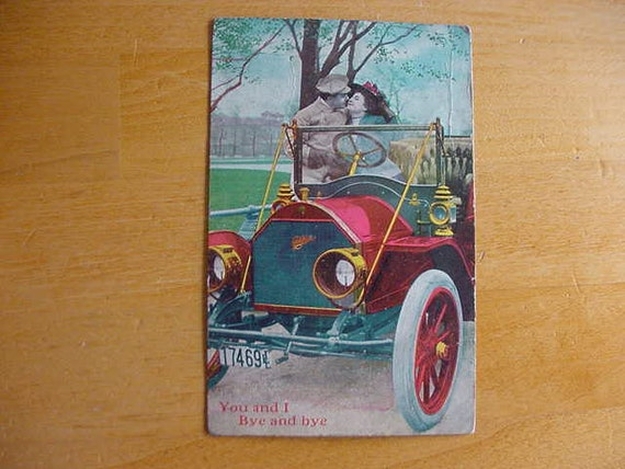"Nice Vintage 1909 Vintage Postcard ""You and I Bye and bye""  Scrapbooking Altered Art"