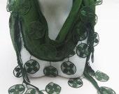 Autumn Scarf,Turkish yemeni,  Khaki cotton scarf