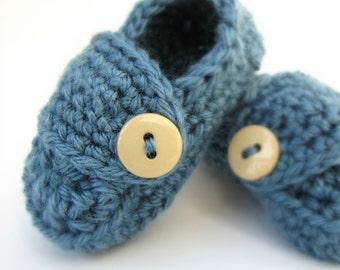 Boys Baby Booties NEWBORN BABY SHOWER gift Little Loafers for Newborns / Baby Boy Booties / Newborn Booties / Trendy Baby Shoes / Booties