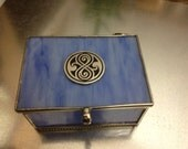 Infinity Symbol Sea Glass Trinket Box