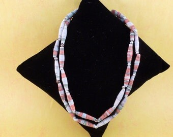 Clearance Paper twisted colorful southwestern color necklace. (N60)