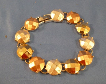 Gold, copper. and silver bracelet (B44)