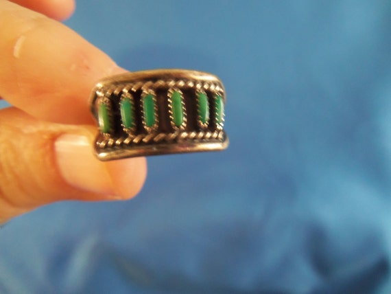 Reserved for Jackie Southwestern turquoise silver ring (R11)