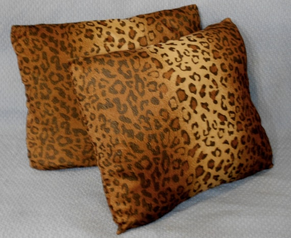 Real Animal Skin Pillows : Faux animal skin pillow covers 18x17 set of two