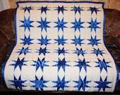 """Quilt """"Blue Star"""""""