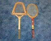 Vintage Tony Trabert and Wright & Ditson Tennis Rackets -