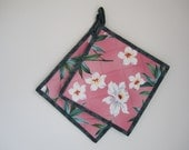 Pink Orchidblossom Potholders