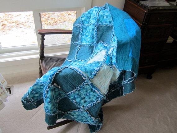Blue Orchid Rag Quilt