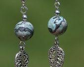 Handmade Blue Jasper Bead Earings