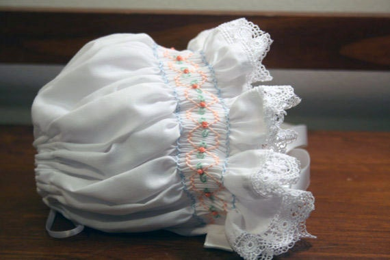 Beautiful Hand Smocked Bonnet