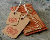 HEARTS Set - 3 Cards & 2 Tags