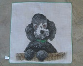 TREASURY LIST Item Vintage Skandia Poodle Handkerchief