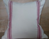 RESERVED Cotton Linen Cloth Pillow Cover, 16x16