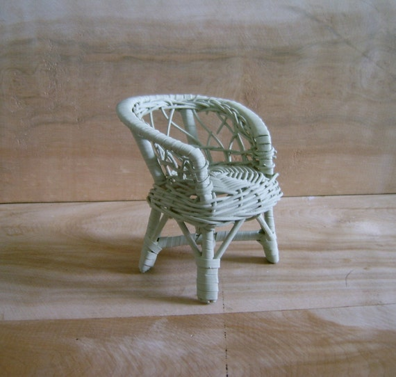 Etsy Vintage Bamboo Furniture: Vintage Miniature Wicker Chair By RobinCottage On Etsy