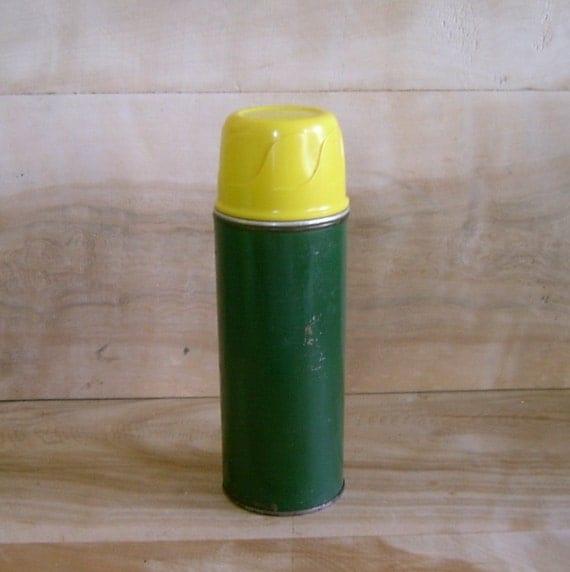 SALE - Vintage Aladdin Metal Vacuum Bottle