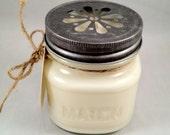 White Tea Soy Candle 8oz Mason Jar