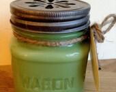 Sage Pomegranate Soy Candle 8oz Mason Jar