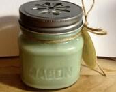 Cucumber Mint Soy Candle 8oz Mason Jar
