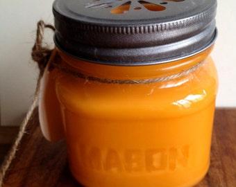 Mango Papaya Soy Candle 8oz Mason Jar