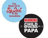 GRANDPA, PAPA, GRANDFATHER - 1 Inch Circle Digital Collage Sheet for Bottle Cap Images, Cupcake Toppers and More (Instant Download No. 1028)