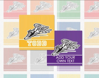 TRACK and FIELD - 4x6 Editable PDF 1 Inch Square Digital Collage Sheet (Instant Download No.1367)