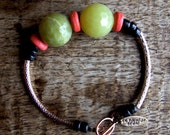 FREE SHIPPING.Check the shop banner for coupon code no.COB1112. Faceted lemon jade gemstone bangle stacking bracelet.