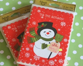 Vintage Invitations Christmas Holiday Open House Party Snowman - Vintage Christmas -