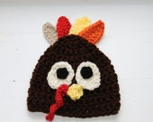 Turkey hat - crochet baby turkey