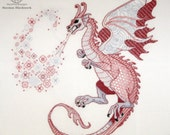 "Blackwork kit ""Dragon Lindworm""  from ""The Dragons-2012"" Blackwork collection"