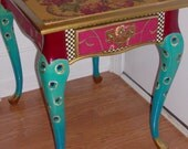 Proud as a Peacock End Table - FREE shipping today
