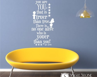 Wall Decal Quote Today You Are You - Vinyl Wall Art