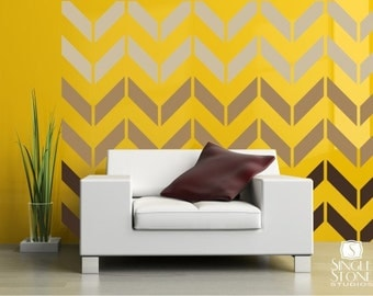 Wall Decals Chevron Pattern - Vinyl Art Stickers
