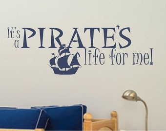 Pirate Ship Wall Decal - Vinyl Stickers Art Graphics Words Lettering