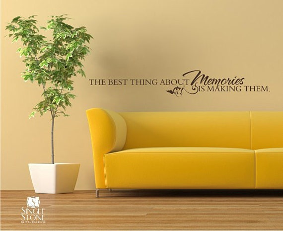 Items Similar To Memories Wall Decal Quote   Vinyl Word Art Custom Home  Decor On Etsy