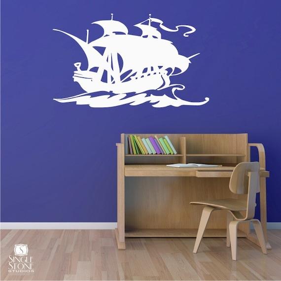 Items Similar To Nursery Pirate Ship Wall Decal Vinyl
